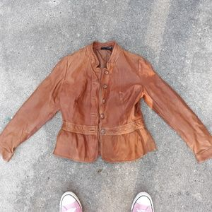 Ana brown leather jacket M